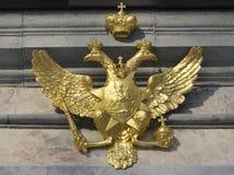 Águia dourada simbólica Imagens de Stock Royalty Free