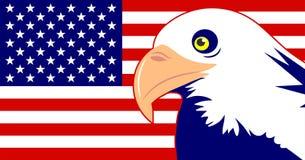 Águia e bandeira ilustração stock
