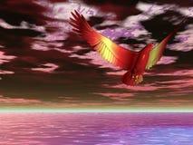 Águia flamejante surreal Fotografia de Stock Royalty Free