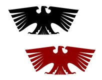 Águia heráldica imperial com asas extendidas Fotografia de Stock Royalty Free