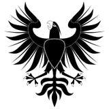 Águia heráldica preta ilustração do vetor
