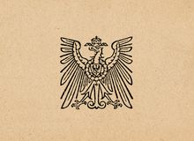 Águila alemana ww2 del Reich de Ober Ost imagen de archivo