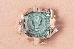 Águila americana del billete de dólar de la moneda Fotografía de archivo
