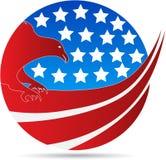 Águila americana del globo stock de ilustración