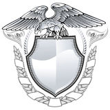 Águila coa alas Imagen de archivo libre de regalías