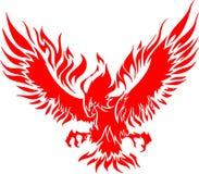 Águila de Atacking en las llamas 3 Imagenes de archivo