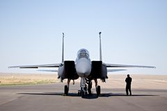 Águila de la huelga F-15 Fotos de archivo