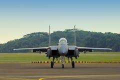 Águila de la huelga F15 Imágenes de archivo libres de regalías