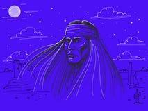 Águila de la pizca del nativo americano Foto de archivo