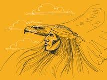 Águila de la pizca del nativo americano Imagen de archivo libre de regalías
