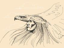 Águila de la pizca del nativo americano Imagen de archivo