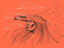 Águila de la pizca del nativo americano Foto de archivo libre de regalías