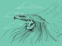 Águila de la pizca del nativo americano Fotos de archivo