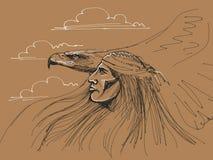 Águila de la pizca del nativo americano Fotos de archivo libres de regalías
