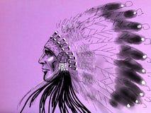 Águila de la pizca del nativo americano Fotografía de archivo