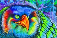 Águila de Montreal del arte de la calle Foto de archivo