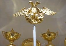 águila de oro Doble-dirigida del clan imperial Habsburgo foto de archivo