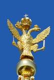 Águila de oro Two-headed Fotografía de archivo libre de regalías