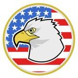 Águila del círculo Imágenes de archivo libres de regalías