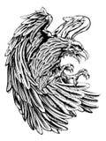Águila del estilo del vintage ilustración del vector