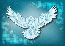 Águila del hielo en fondo congelado Foto de archivo libre de regalías