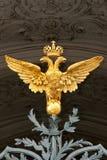 Águila doble del oro Imágenes de archivo libres de regalías