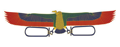 Águila egipcia Foto de archivo