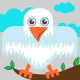Águila en la ramificación de árbol Fotografía de archivo