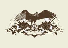 Águila estilizada Imagen de archivo libre de regalías