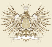 Águila heráldica de la vendimia Imagen de archivo