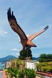 Águila Langkawi cuadrado Foto de archivo libre de regalías
