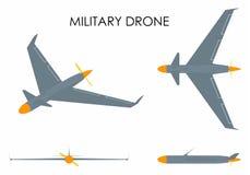 Águila militar del abejón stock de ilustración