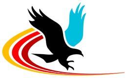 Águila que viaja Imagenes de archivo
