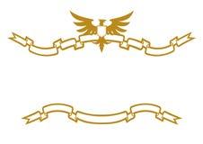 Águila y cintas ilustración del vector