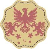 Águila y león Imagen de archivo libre de regalías