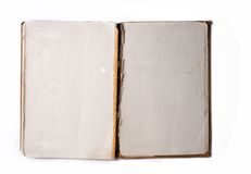 Álbum aberto velho do livro/foto Imagem de Stock Royalty Free