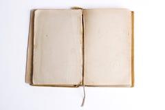 Álbum abierto viejo del libro/de foto Imagenes de archivo