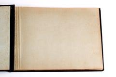 Álbum abierto viejo del libro/de foto Imagen de archivo libre de regalías