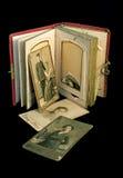 Álbum antiguo de la familia Foto de archivo