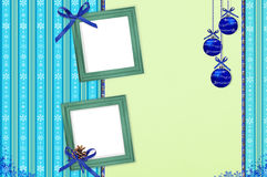 Álbum con el marco por Año Nuevo de la enhorabuena Imagen de archivo libre de regalías