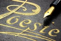Álbum da poesia imagem de stock royalty free