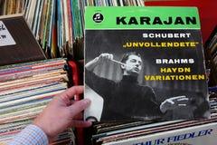 Álbum de Columbia Records: Karajan imagenes de archivo