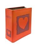 Álbum de foto con el corazón en la cubierta Imagen de archivo libre de regalías