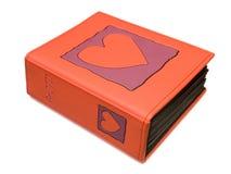 Álbum de foto con el corazón en la cubierta Imagen de archivo