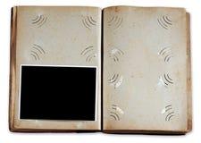 Álbum de foto do vintage com foto vazia fotos de stock royalty free