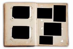 Álbum de foto do vintage com fotos vazias Imagem de Stock