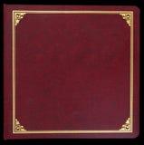 Álbum de foto vermelho Foto de Stock
