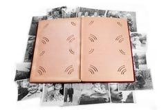Álbum de foto viejo Fotografía de archivo