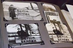Álbum de foto viejo Berlín en 1945 Foto de archivo libre de regalías