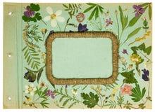 Álbum de foto viejo, elemento scrapbooking Foto de archivo libre de regalías